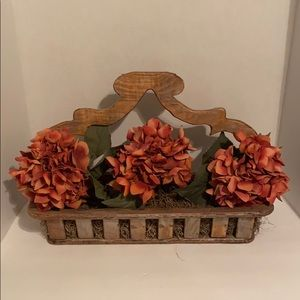 Wooden flower bed